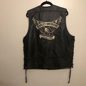 Harley Davidson leather vest Eagle xl motorcycle